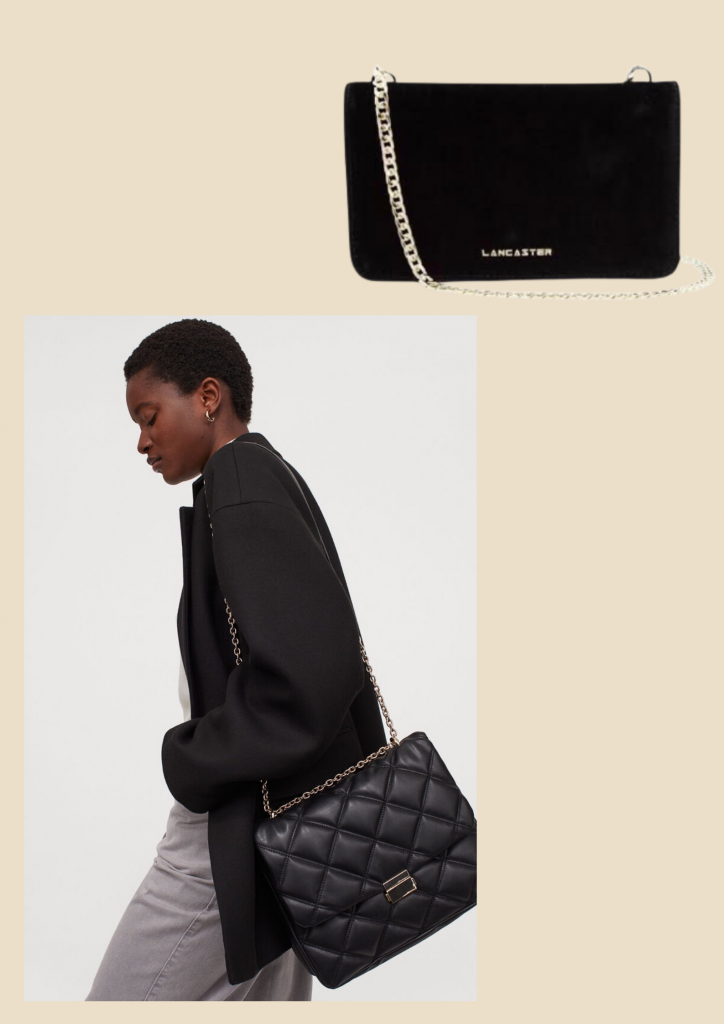 black shoulder bag, basic wardrobe essentials for every woman